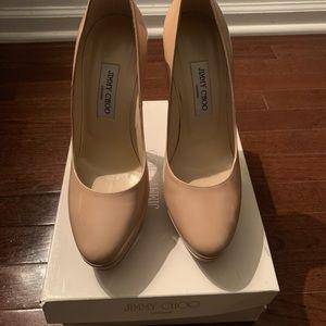 Jimmy Choo Nude Patent Leather Heels - Eros Heels